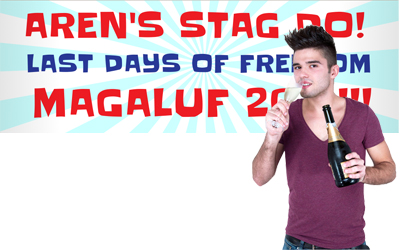 Stag Party Banners